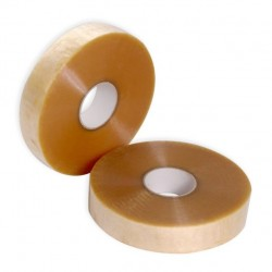 Cinta adhesiva de polipropileno solvente. Rollos de 990m x 48mm.