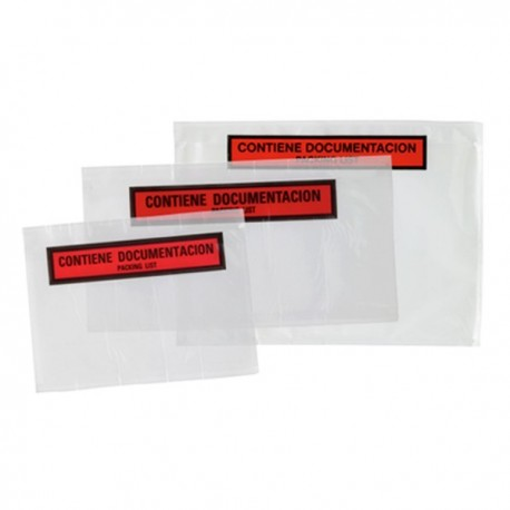"Sobre Packing-List 240x140 ""Contiene documentación"" - 1000 unidades"