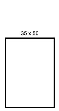 Bolsas de polietileno 35 x 50