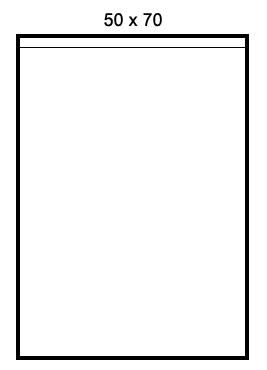 Bolsas de polietileno 50 x 70