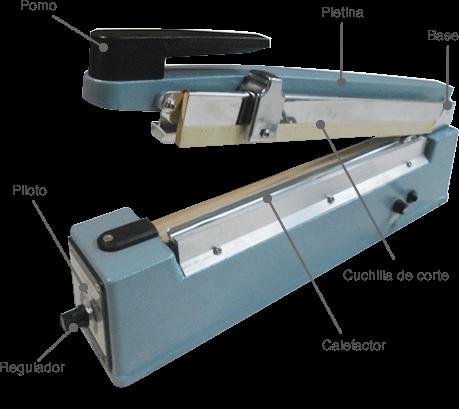 Componentes de una selladora manual