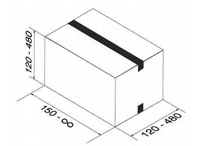 Dimensiones de las cajas para esta cerradora