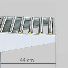Extensión de mesa de rodillos para cerradora de cajas