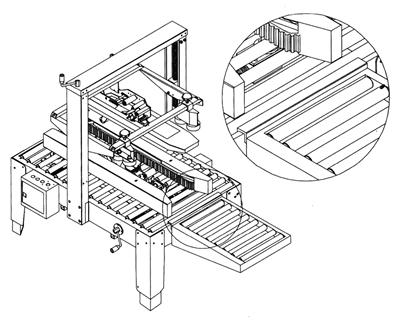 Complemento de mesa de rodillos para cerradora de cajas